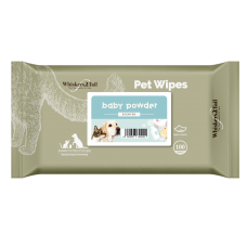 Whiskers2Tail Pet Wipes 100's Baby Powder