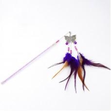 Dooee ButterflyDangling Feather Teaser Purple