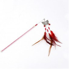 Dooee ButterflyDangling Feather Teaser Red