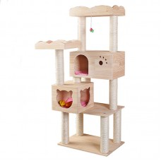 Lavish Cat Tree Multi-Hideout - Rose